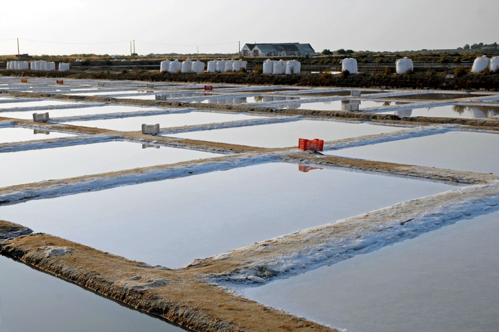 Marisol traditional salt pans, unchanged sinece roman times